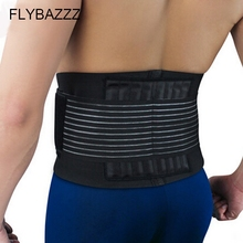 FLYBAZZZ High Elastic Breathable Double Bandage Adjustable Straps Waist Brace Support Pad Belt Protector Bodybuilding Equipment