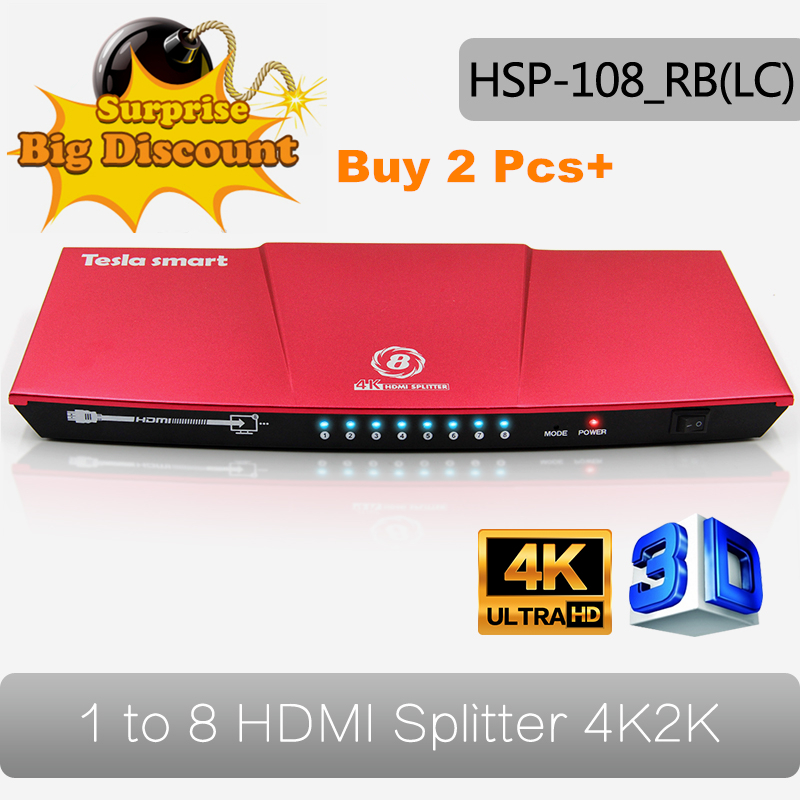 4K(3840*2160) 1080P 3D Video HDMI Switch Switcher Splitter 1x8 for 4K Smart TV HDTV PS3 PS4 Xbox 360 DVD все цены
