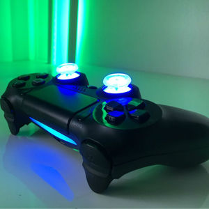Image 5 - DIY Button Transparent analog thumb sticks thumb stick Led Light Fits for PlayStation4 PS4 Pro PS4 Slim With Flash Light Refit