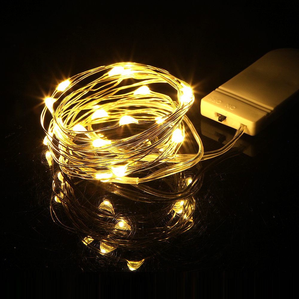 2M 20LED Strings Copper Wire 2*CR2032 Battery Operated Garland Christmas Wedding Party Decoration LED String Fairy Lights