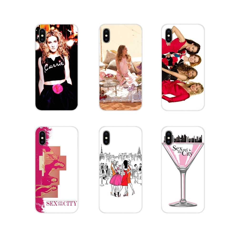 For Apple iPhone X XR XS MAX 4 4S 5 5S 5C SE 6 6S 7 8 Plus ipod touch 5 6 Soft TPU Cover Sex and the City American TV Art Poster