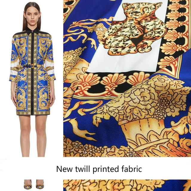 2018 new high-grade polyester printed fabric handmade DIY digital printing clothing dress fabric wholesale 148cm wide