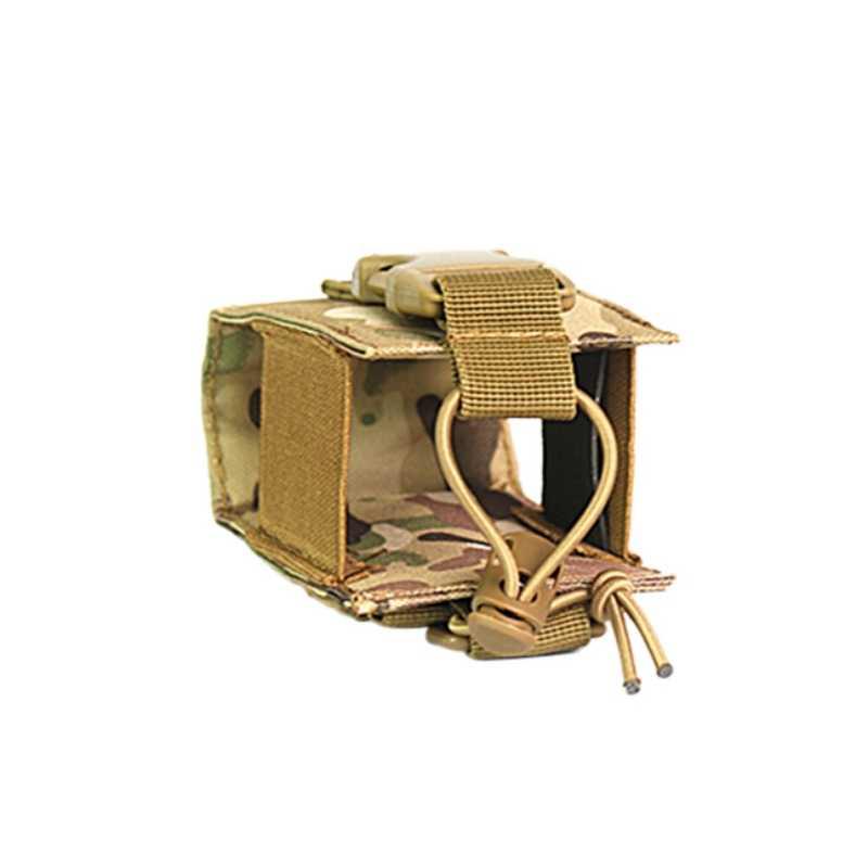 Funda Molle táctica para caza, funda para interfono, sistema Molle, accesorio para interfono de Radio, funda para walkie-talkie