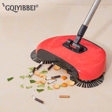 купить Stainless Steel Sweeping Machine Push Type Hand Push Magic Broom Dustpan Handle Household Cleaning Package Hand Push Sweeper mop по цене 1443.38 рублей