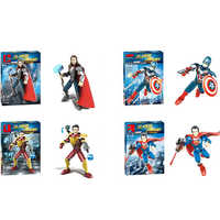 Marvel Super Heroes Figure Thor 3 Thor American ,captain Iron Man, Spiderman iron Man Superman Building Blocks Children Toys Co