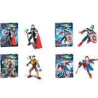 Marvel Super Heroes Figure Thor 3 Thor American ,captain Iron Man, Spiderman iron Man Superman Building Blocks Children Toys Co
