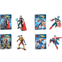 Marvel Super Heroes Figure Thor 3 Thor American ,captain Iron Man, Spiderman iron Man Superman Building Blocks Children Toys Co sermoido sale spiderman iron man captain america superman figure motorcycle super hero model cap building blocks set model kits