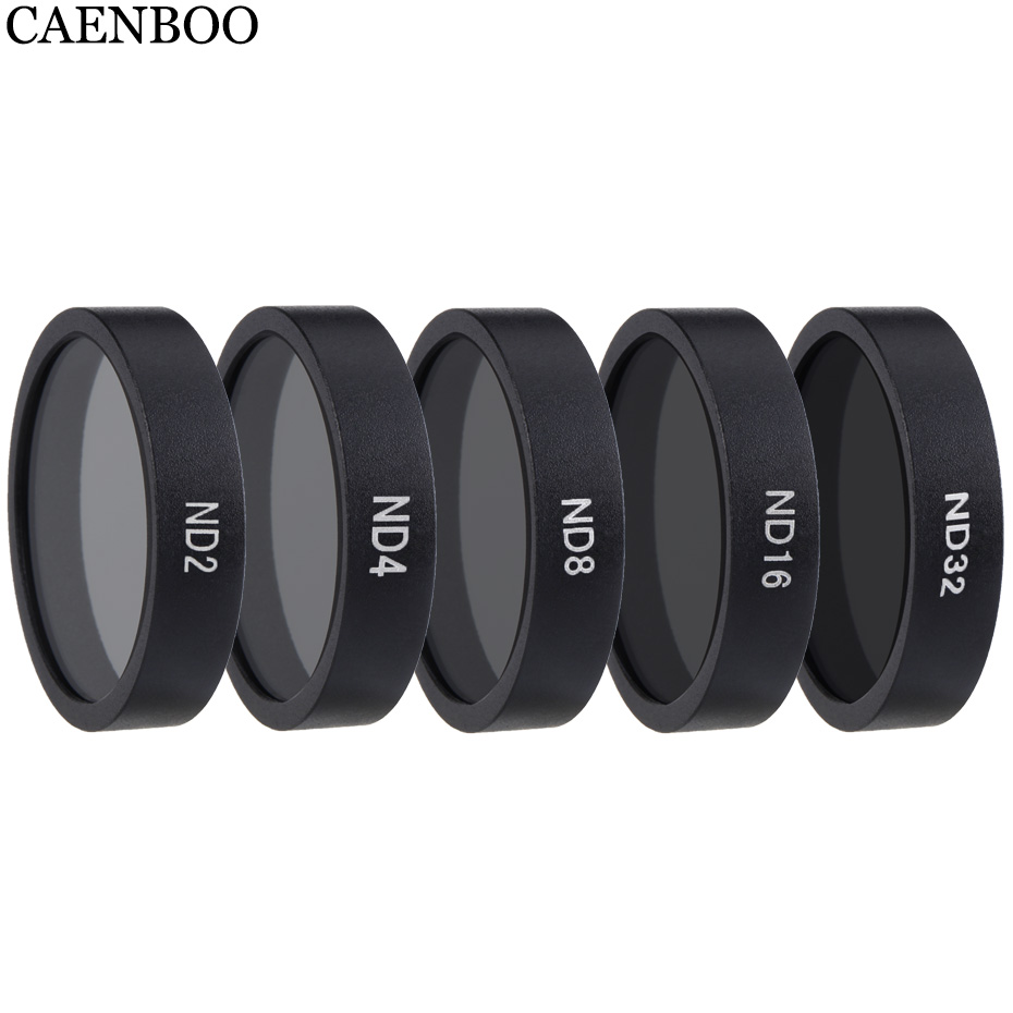 CAENBOO Drone Filters ND4 ND8 ND16 ND32 Neutral Density Polar Lens Filter Set Protector For DJI Mavic Air Camera Accessories