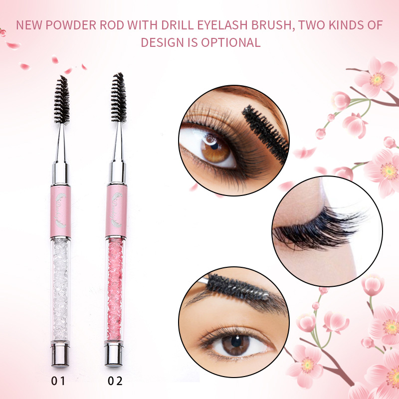 1 Pcs Reusable Eyelash Brush Mascara Wand Applicator Spooler Cosmetic Makeup Tool 789(China)