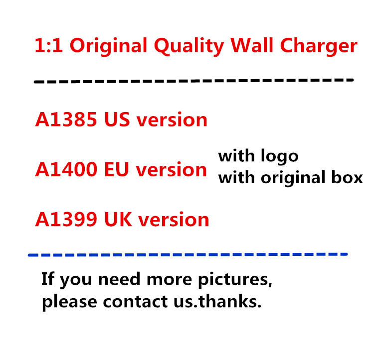 100pcs lot 5W 5V 1A wall charger US EU UK plug home charger adapter A1385 A1400