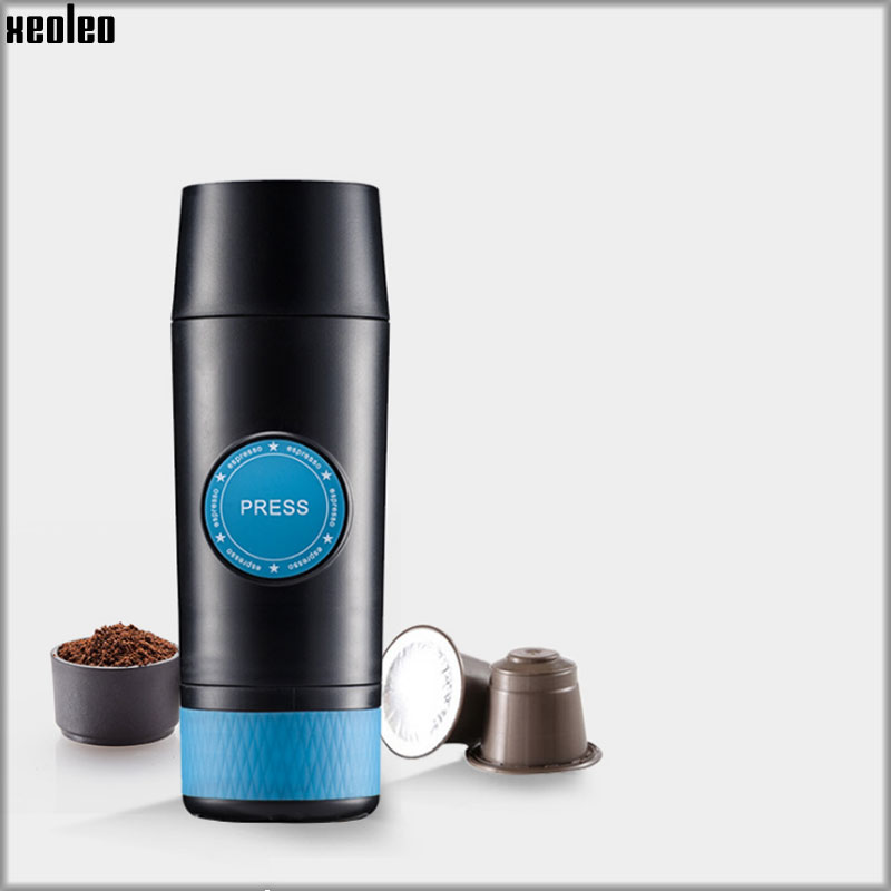 XEOLEO USB Capsele&Powder Espresso Maker Portable Travel Coffee Machine Espresso machine Coffee maker Gift mini sport coffee machine the hand powered portable espresso machine with high quality powder vesion