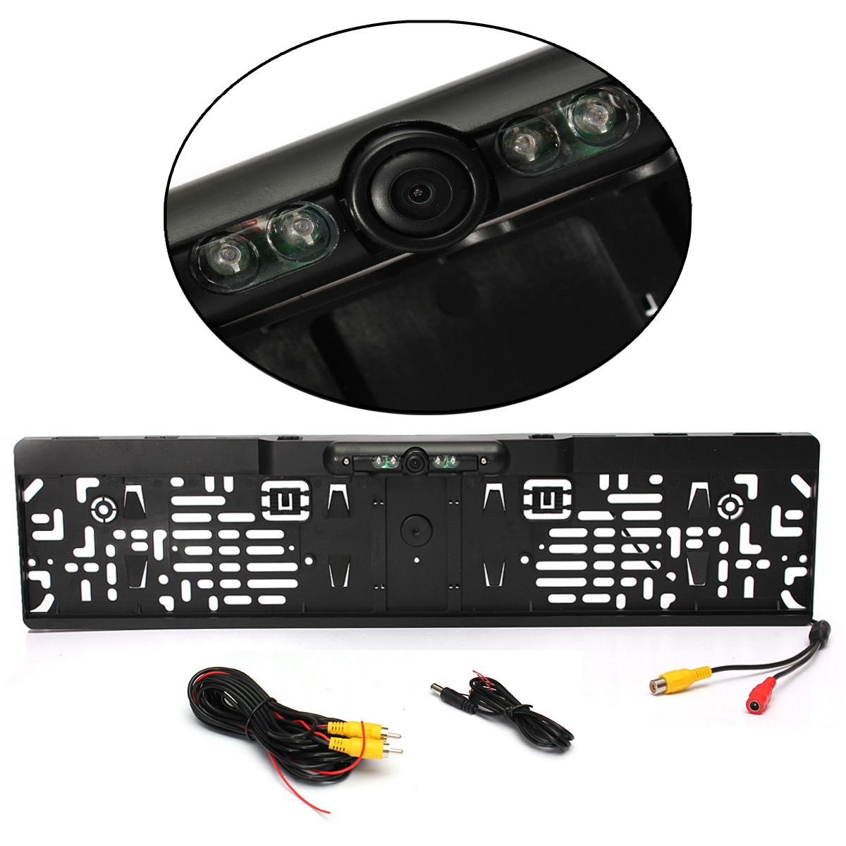 Impermeable Europea licencia marco de la placa de la cámara de visión trasera del coche Auto copia inversa de retrovisor aparcamiento cámara de 170 grados de visión nocturna