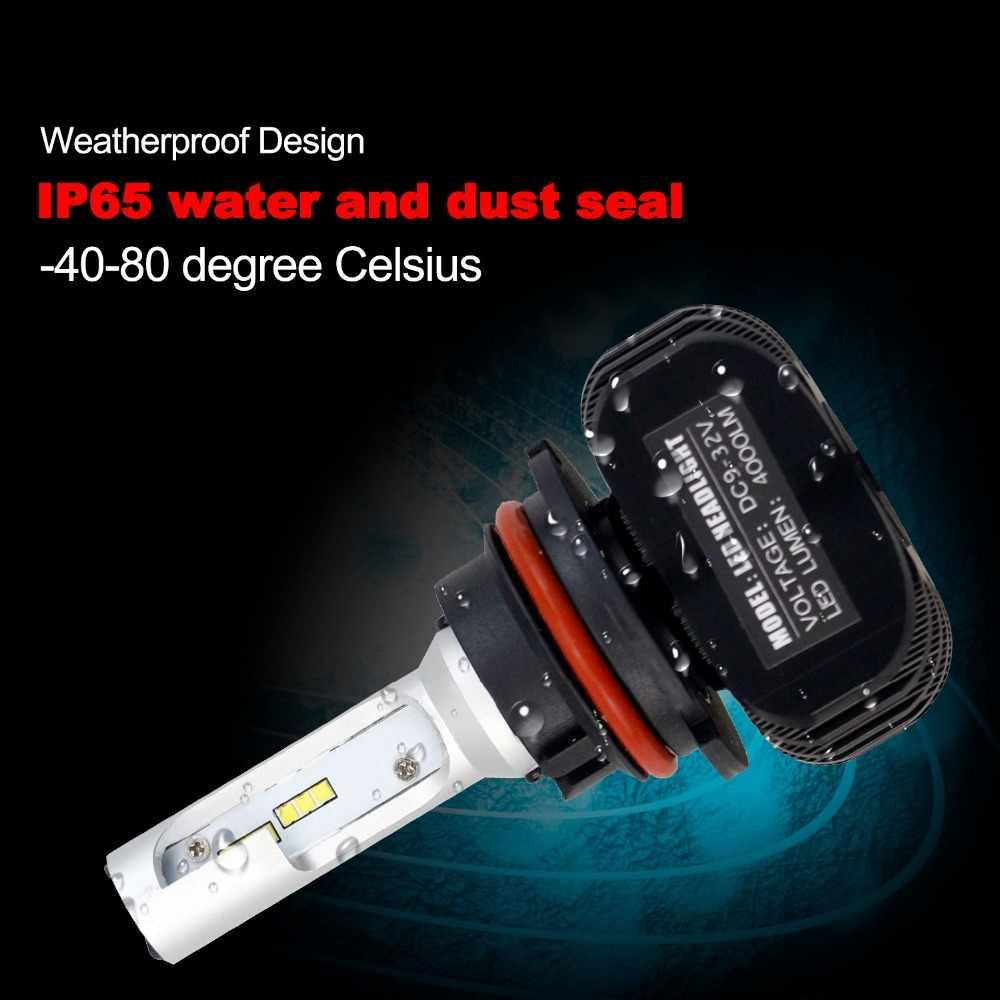 H4 H7 светодиодный фар автомобиля H11 H1 9005 9006 H3 880 881 9007 9008 H13 автомобили светодиодный свет 2 шт. 50 W 8000LM 6000 K для стайлинга автомобилей Источник EF