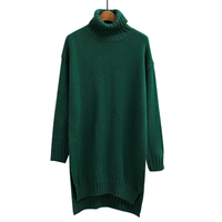 Sweater Female Women Warm Pullover Jumper Outwear Tops High Neck Loose Thickening Autumn Winter Sleeve Knitted
