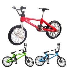 1 шт. Палец Велосипед Мальчик Дети Мини сплав+ пластик палец велосипед игрушка для коллекции и отличный подарок