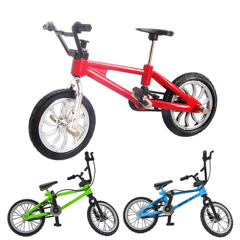 1Pcs Finger Bicycle Boy Kids Mini Alloy + Plastic Finger Bicycle Toy For Collection And Great Gift
