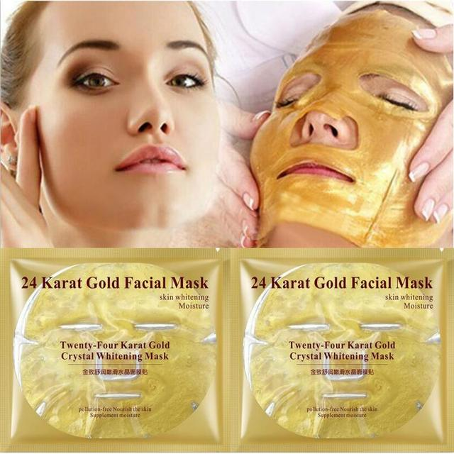 Pcs Bioaqua  K Gold Masker Wajah Whitening Pelembab Masker Perawatan Kecantikan Kulit Korea Perawatan