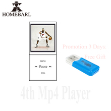 HOMEBARL Mini Metal 1.8″ 4th LCD MP4 Player With FM Radio Video With Micro SD Card/TF Card Slot Speaker USB Cable Study Gift 5B7