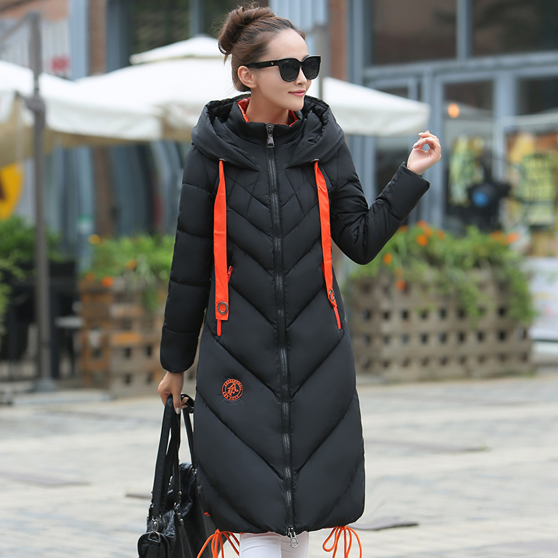 2018 New Fashion Ladies Coats Winter Coat Women   Parka   Long Slim Jacket Women Jackets And Coats Thick Outwear CC368