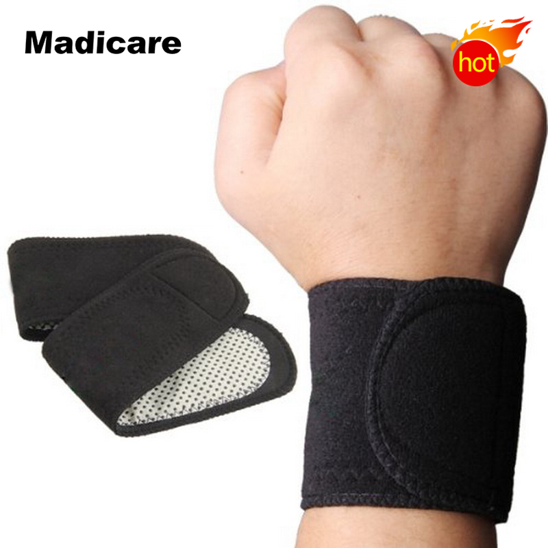 Magnetic Tourmaline heating wrist support brace joint protection tourmaline heating therapy remedy wrist support Wrap 1 pair