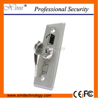 Good quality with key stainless steel metal access control exit button exit switch