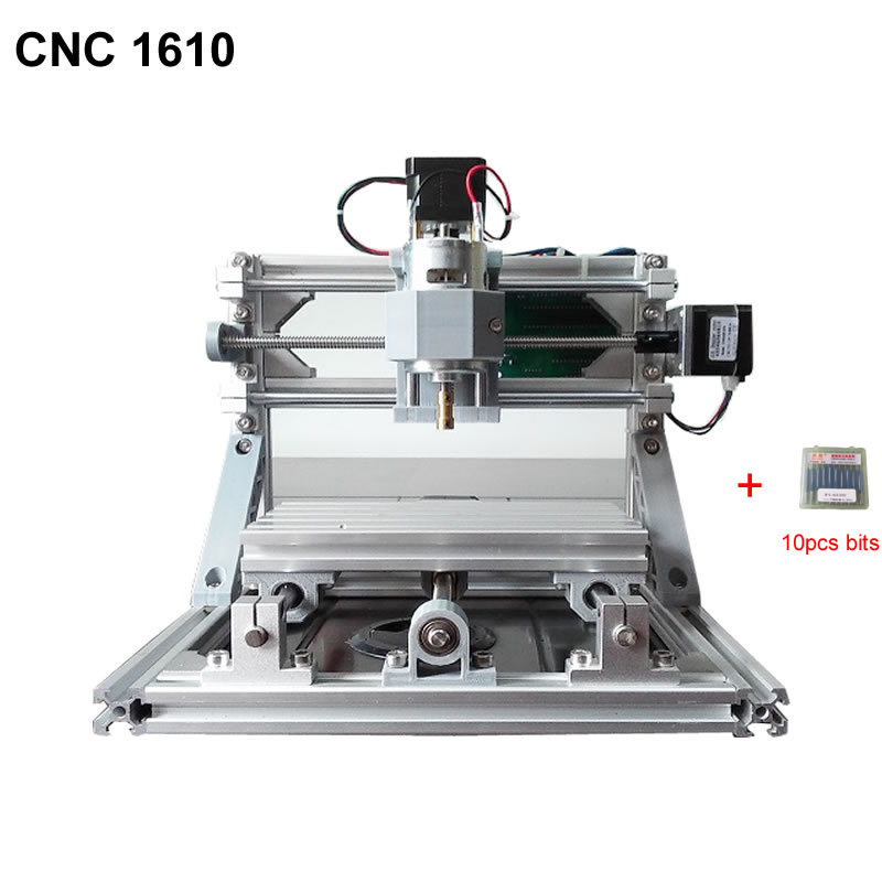 CNC 1610 GRBL control Diy CNC Engraving machine,working area 160x100x45mm,3 Axis Pcb Pvc Milling machine,Wood Router eur free tax cnc 6040z frame of engraving and milling machine for diy cnc router
