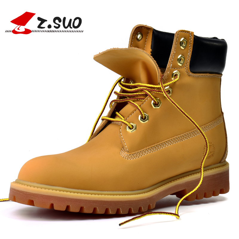 Z Suo men s boots new autumn and winter high fashion vintage ankle boots solid color