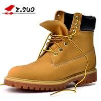 Z. suo/мужские ботинки новые осенние и зимние Модные Винтажные ботильоны однотонная обувь размеры 39-45