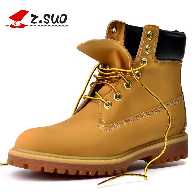 Z suo botas de los Hombres Nuevo otoño y el invierno de alta moda vintage de tobillo botas de color sólido zapatos tamaño 39 45-in Botas básicas from zapatos    1
