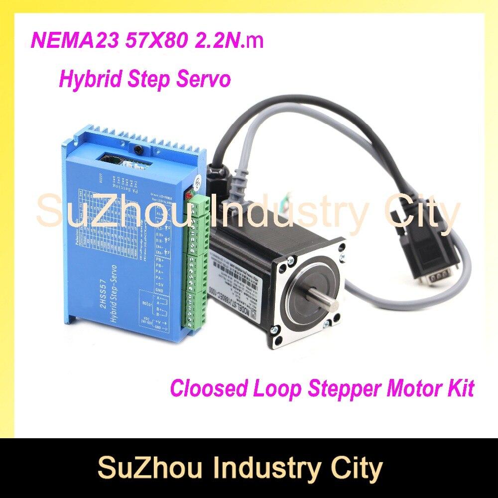 Nema23 Closed Loop Stepper Motor 2 0N m NEMA34 4 5N m 1 5 Gear box