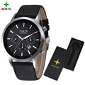 Sport Watch Men Leather NORTH Mens Watches Top Brand Luxury Watch Clock Waterproof Quartz Military WristWatch Men Sport Watch