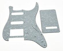KAISH White Pearl ST Style HSS Guitar Pickguard,Back Plate,Screws