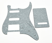 White Pearl ST Style HSS Guitar Pickguard,Back Plate,Screws