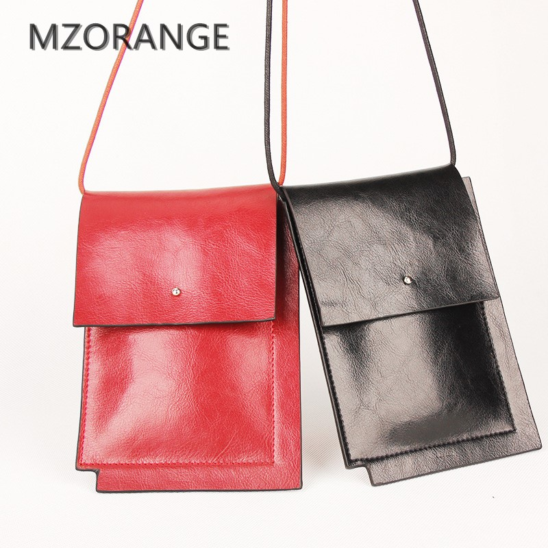 MZORANGE Casual Mini Crossbody Bags Genuine Leather Women Small Shoulder Bags Small Messenger Bags Fashion Lady handbag 2018 NEW spring new elegant leather women handbag smooth skin lady shoulder bags female small casual totes cover zipper crossbody packs