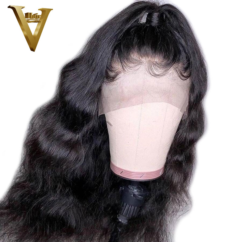Glueless Lace Front Human Hair Wigs For Black Women Peruvian Remy Body Wave Lace Front Wig