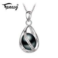 Promotion 2016 Black Pearl Pendant AAAA Trendy Natural Pearl Necklace Pendant Black Pearl Necklace For Women