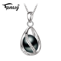 Promotion 2016 Black Pearl Pendant AAAA Trendy Natural Pearl Necklace Pendant Black Pearl Necklace For Women