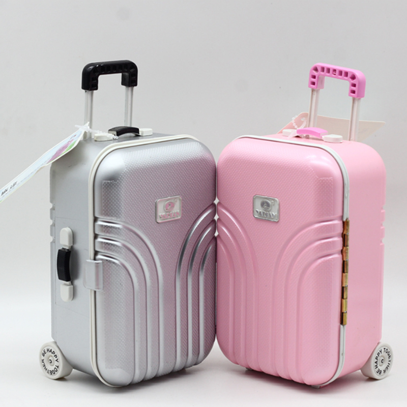 1PCS Cute Travel Suitcase Luggage Fashion Toys Dollhouse Miniature My mini Luggage Re-ment Size For Kids Girls Play House Toy 1 12 dollhouse miniatures furniture re ment refrigerator hearth integral kitchen lampblack machine