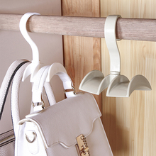 050 Home Multi Bag receptacle 360 degree rotatable closet hanger storage rack 12*10cm