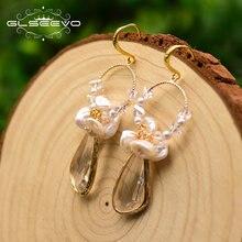 Женские серьги с пресноводным жемчугом glseevo эффектные свадебные