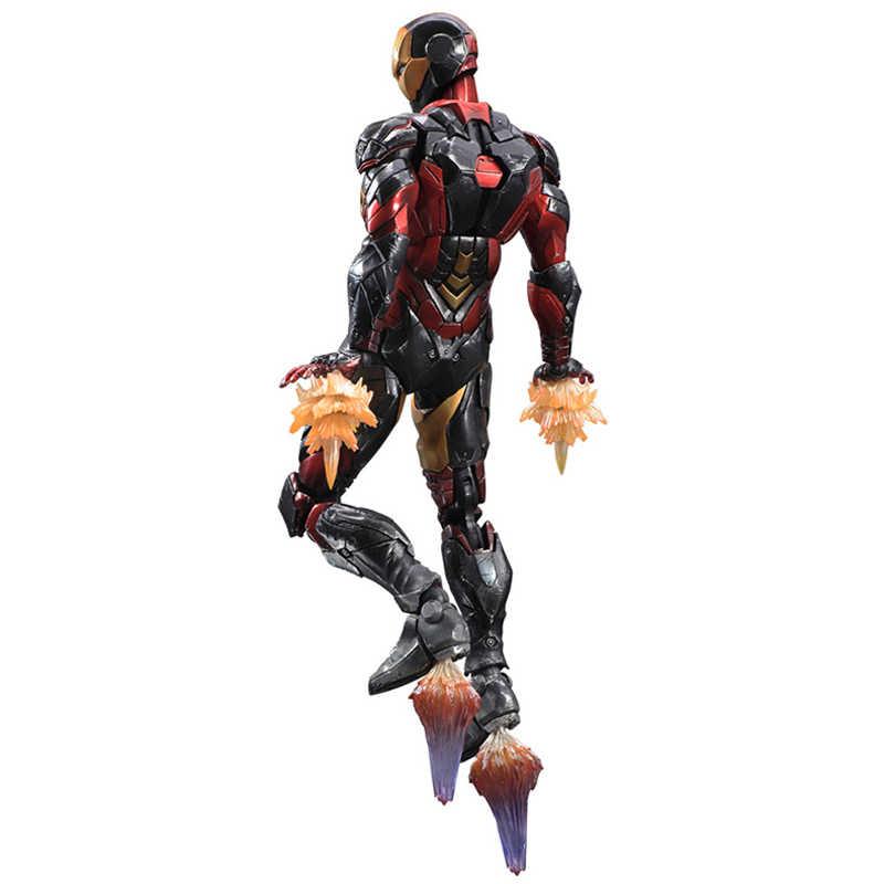 Anime Filme Avengers Homem De Ferro Figura de Ação Playarts Kai estatueta hot boys Toys dolls brinquedos Coleção Modelo Jogar arts Kai