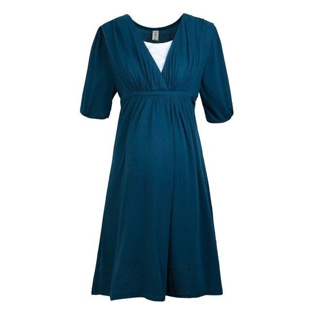 Pregnant women dress Maternity Dress V neck Pregnant Dress Breast Clothes For Pregnant Women Maternity Skirt Pregnant YL207