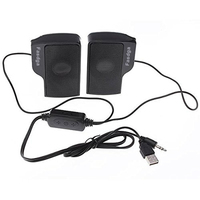 Fasdga Mini Clip on USB Stereo Speaker Audio Speaker Musicbox Controller Controller for Laptop Notebook PC Computer