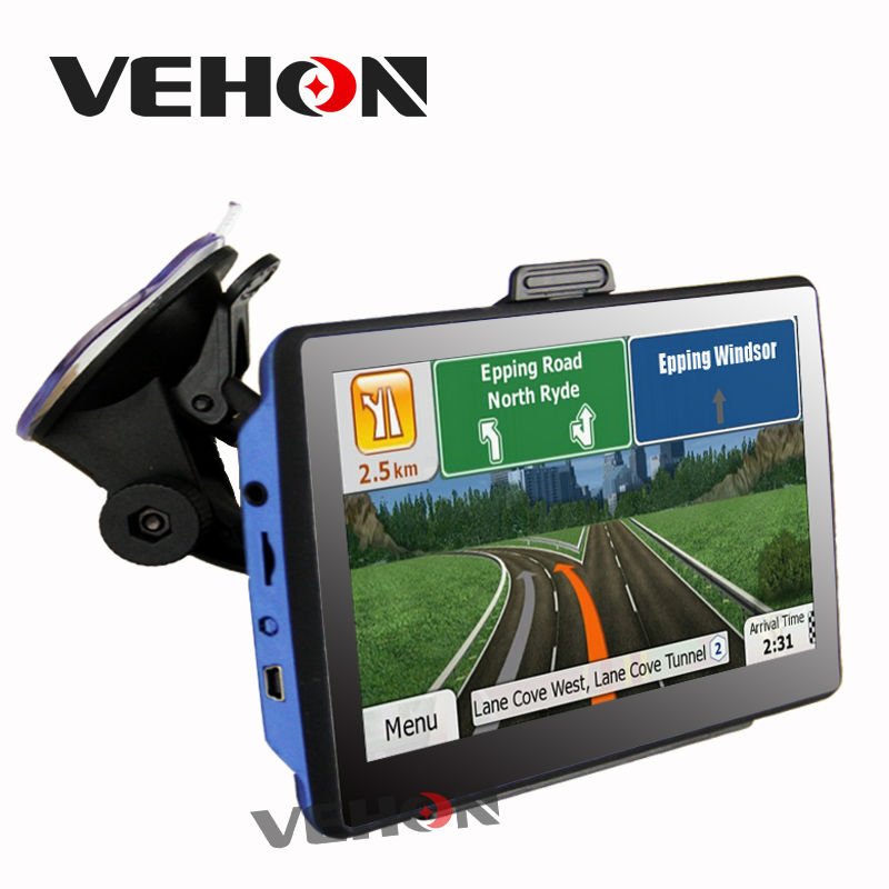 7 inch HD Car GPS Navigation 256M 8GB FM Map Free Upgrade Navitel Europe Sat nav Truck gps navigators with Car charger
