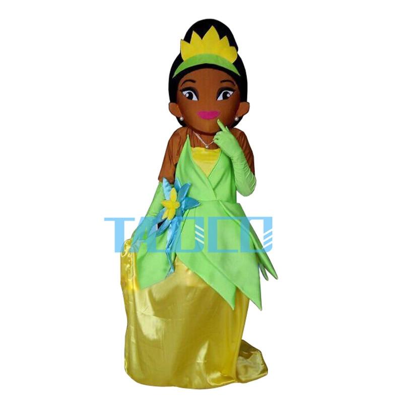 Тиана маскарадный костюм принцессы и лягушки нарядное платье Бесплатная доставка