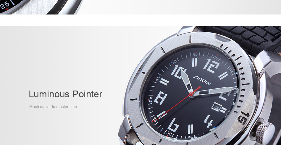 SINOBI Surfing Clock 3Bar Waterproof Watch Mens Sports Wristwatch Designer Branded Chronograph Male Spy Geneva Quartz-watch 007 11