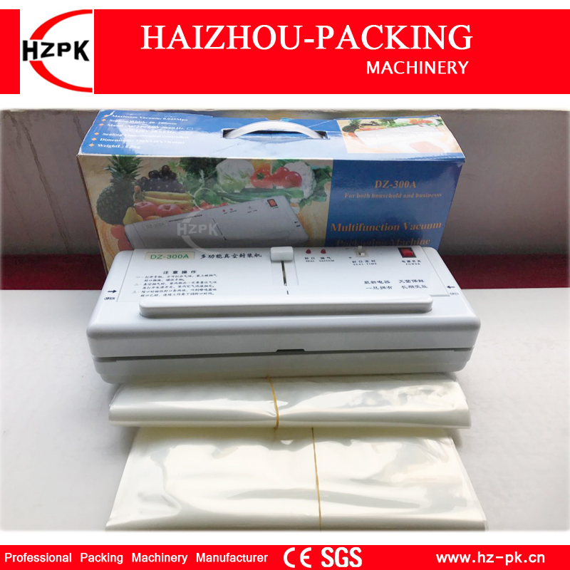 HZPK Simple Manual Sealer Household Best Vacuum Sealer Vacuum Packing Sealing Machine With Vacuum Sealer Bags For Food (DZ-280) axk sc8uu scs8uu slide unit block bearing steel linear motion ball bearing slide bushing shaft cnc router diy 3d printer parts