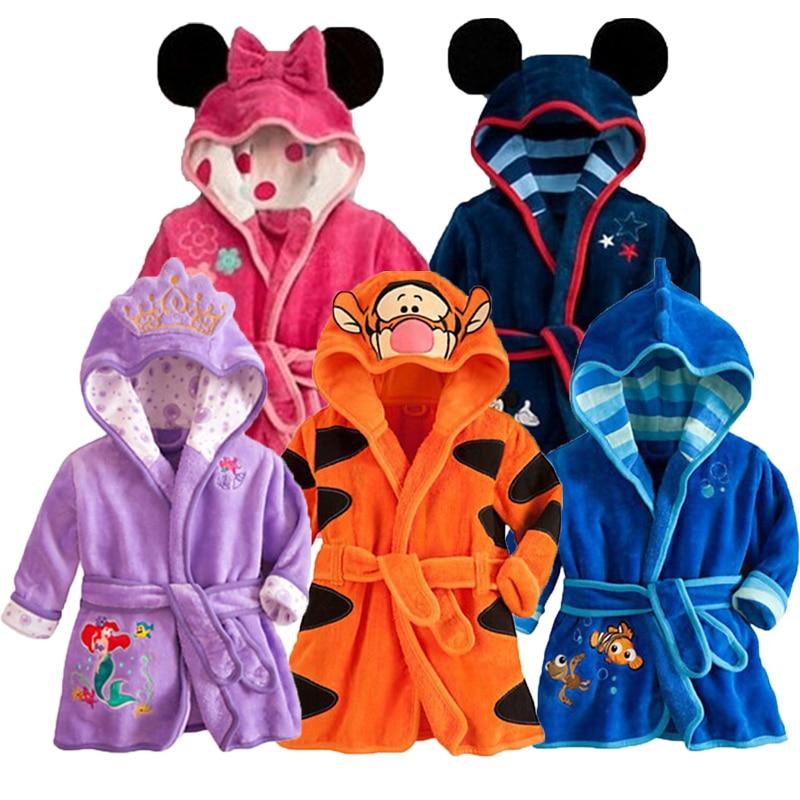 2017 Baby Sleepwear Autumn Children Clothing Pajama Sets Cotton Baby Girl Clothes Winter Baby Robe Boy