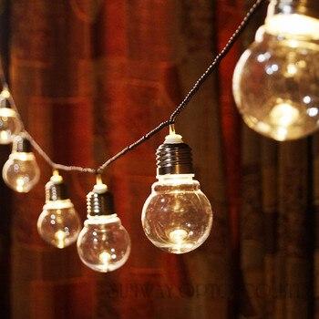 Neuheit 20 LED 6 Mt Clear Globe Girlande Partei Fairy Lichterketten Weihnachtsbeleuchtung Urlaub Girlande Lichter String EU AU US UK STECKER