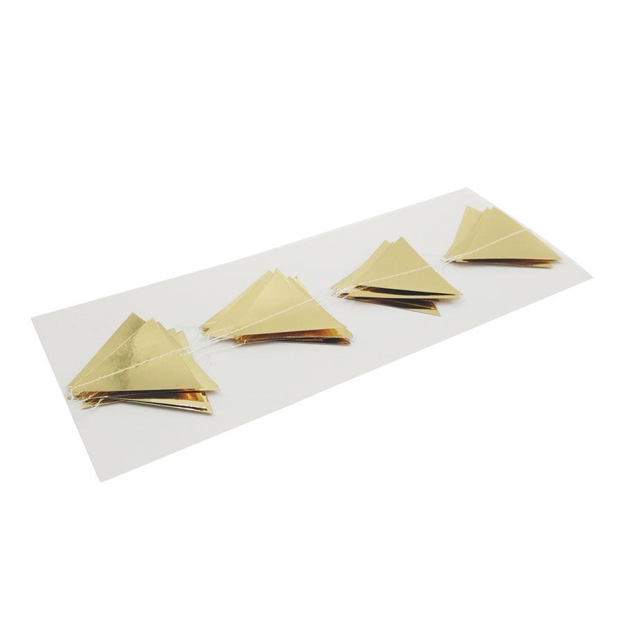 Nicro 3M trekëndëshat e artë Garland Garland Krishtlindjeve Wall - Furnizimet e partisë - Foto 6